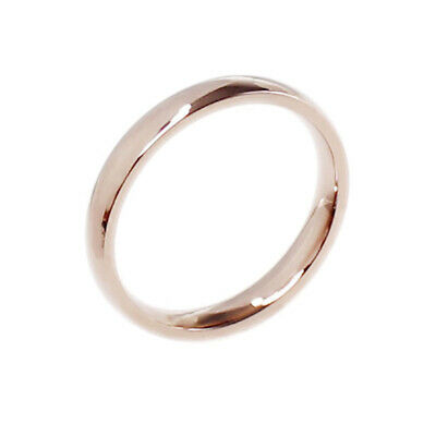 4mm Women Stainless SteelPolished Wedding Engagement Band Ring Rose Gold Size7