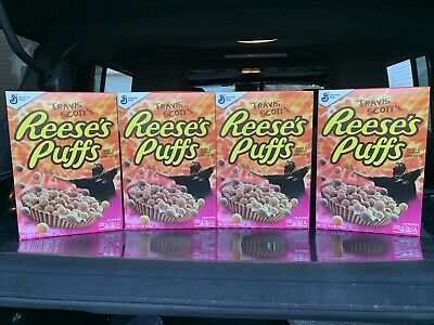 BULK 4 BOXES Travis Scott Reeses Puffs Cereal New Sealed Limited Edition