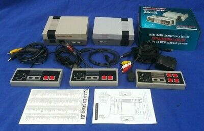 "TWO ""NES CLASSIC"" Mini Replica 620 Game System Lot Controllers & Power Sources"