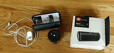 JBL Flip 2 BLACK Wireless Bluetooth Portable Stereo Speaker Phone Handheld -B-