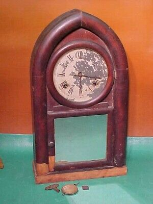 Vintage Wind-Up, 8 Day, Mantle Clock by Waterbury - For Parts, Reconstruct