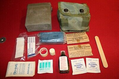Vintage  Military Surplus Individual First Aid Kit Survival Gear Hiking Army