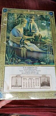 Antique Vintage Sunshine Buscuits Advertising Calendar Country Store