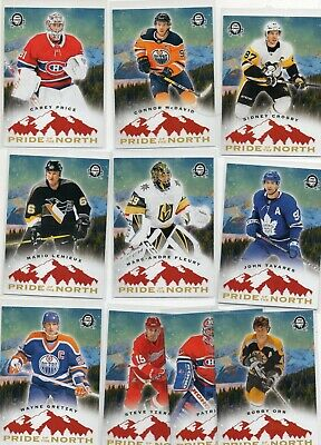 2018-19 Coast to Coast Pride Of The North 10 Card SP Set Gretzky, Orr, Crosby ++