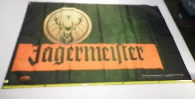 Jagermiester Flag  3' by 5' Indoor/Outdoor Banner Flag 4 Man Cave, Bar, Garage