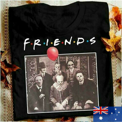 Halloween Men T-Shirt For Horror Friends Pennywise Michael Myers Jason Voorhees