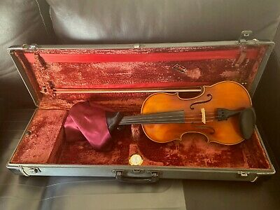 Vintage full size used violin 4/4 Karl Meisel Made in Germany with bow and case