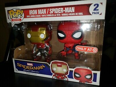 Funko Pop Spider-Man Iron Man 2 Pack Movies Spider-man Homecoming