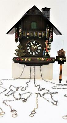 Vintage Cuckoo Clock w/ Chimney Sweep Black Forest Made In Germany Regula 25-F