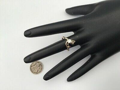 Vintage 14K Yellow Gold And 0.35 CTW VS1 Diamond Ring, Size 5.25, 2.3 Gr