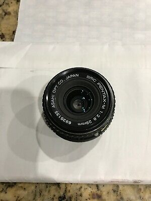 Asahi SMC PENTAX M 28mm f2.8 1:2.8  Lens K Mount USA Seller