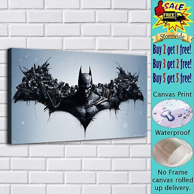 Batman Arkham HD Canvas prints Painting Home decor Poster Room Wall art Picture