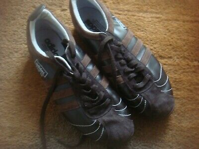 Mens adidas Originals CUP 68 Leather TRAINERS UK 8.5. Brown. 2007 VGC