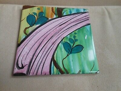 Lovely quirky tile hand painted & glazed keeps surfaces unmarked kitchen bedroom