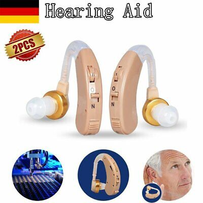 1 Paar Ear Hearing Aid/Aids Audiphone Sound Amplifier Hörgerät Einstellbare DE