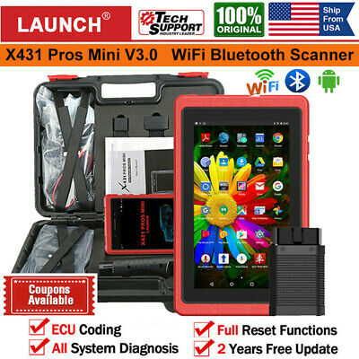 LAUNCH X431 Pros Mini Scan Pad OBD2 Diagnostic Scanner Bidirectional Key Coding