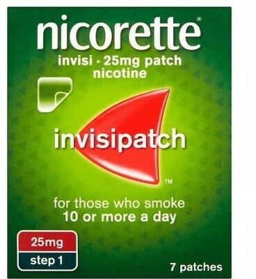 2x Nicorette Invisi Patch  25mg- 7 patches - Step 1