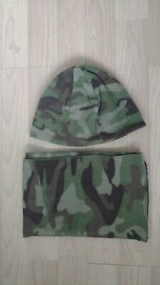 Rebel Camo Hat And Scarf Set Age 2 To 6