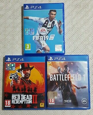 Red redemption 2 , fifa 19 , battlefield1) PlayStation4 ps4 in italiano !!