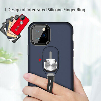 For iPhone 11 Pro Max XR Magnetic Finger Ring Holder Stand Armor Hard Case Cover