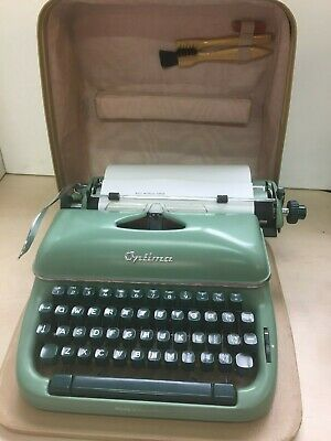 Vintage Optima T3 Portable Typewriter Case Instructions Carbon Copy Paper 24E