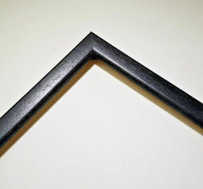 Flat Black Wood Picture framing Moulding 19 x 10mm per stick 3m Cut to 1m