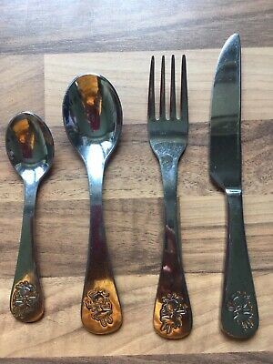 Childrens viners stainless steel 4 piece fairy cutlery set