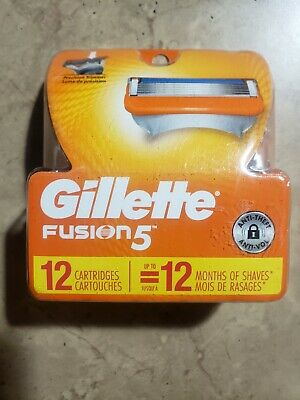 Gillette Fusion 5 Razor Blades, 12 Cartridges Packed