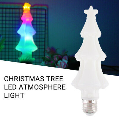 E27/E26 LED Colorful Light Bulb Simulated Christmas Tree Shape Effect Party Lamp