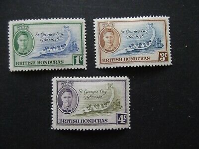 British Honduras - George VI 1949 St Georges Cay Set Mounted Mint