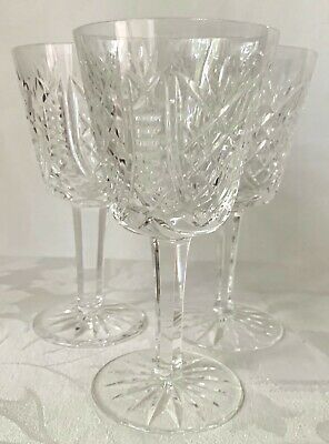3 Elegant Waterford Crystal Clare White Wine Glasses, Old Mark, Excellent Cond