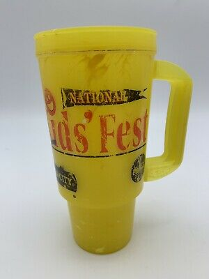 Silver Dollar City Yellow 2008 Refillable Grandfather Mug Kid's Fest USED