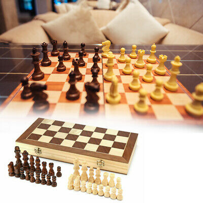 Folding Wooden Chess Set Standard Chess Set Board Game Checkers Boards Game Toy