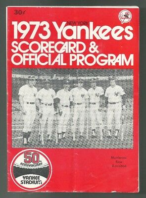 1973 Tigers at New York Yankees Program with George C. Scott Autograph + extras