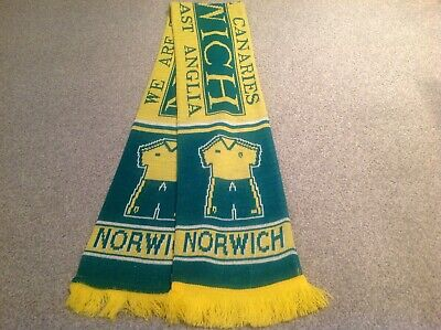 NORWICH CITY FOOTBALL CLUB SUPPORTERS SCARF.. Free Post .