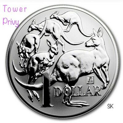 2019 Kangaroo Willis Tower Privy 1 oz BU Silver Coin