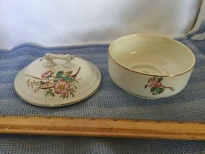 Vintage Fiore Olivetie Ceramic Trinket powder Abstract Floral pattern