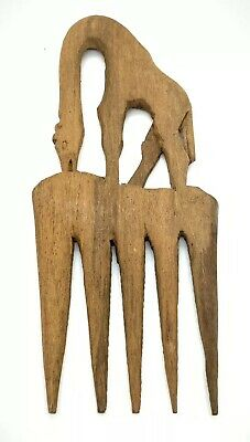"""Early Coptic wooden hair comb Egyptian Giraffe Antique 6"""""""