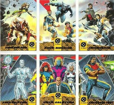 1994 Fleer Ultra X-Men: Team Triptych 5 Cards Wal-Mart Set