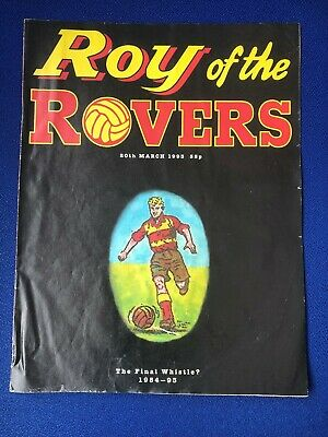 Roy Of The Rovers Comic Last Issue The Final Whistle 20Th March 1993