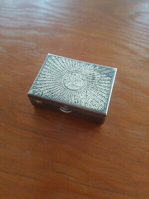 Vintage Sterling Silver Powder Compact. Small.