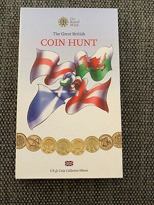 COMPLETE Royal Mint £1 Coin Hunt Album Full Set of 24 coins completer Medallion