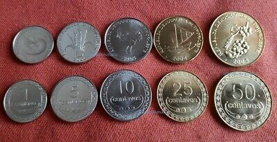 1-50 CENTAVOS 2003-2006 YEARS 5 DIF UNC COINS FULL SET EAST TIMOR