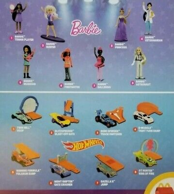 2019 McDonalds Happy Meal Toys BARBIE and HOT WHEELS - You Pick Your Favorite