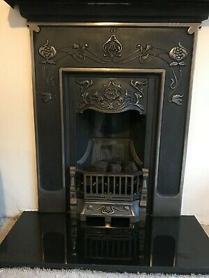 Paris Cast Iron Fireplace with Gas Fire & Granite Hearth