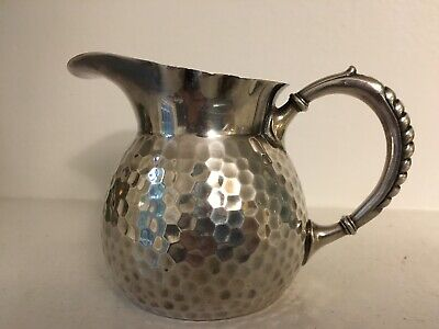 Art Nouveau Hand-Hammered Silver Plate German pitcher W.M.F.M.