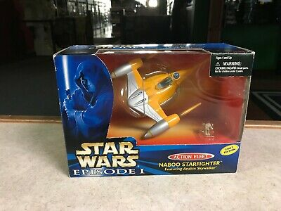 1999 Star Wars Micro Machines NABOO STARFIGHTER Action Fleet Set NIB