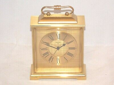 Vintage 8Day Swiza Heavy Brass Carriage Alarm Clock In Superb Condition, Working