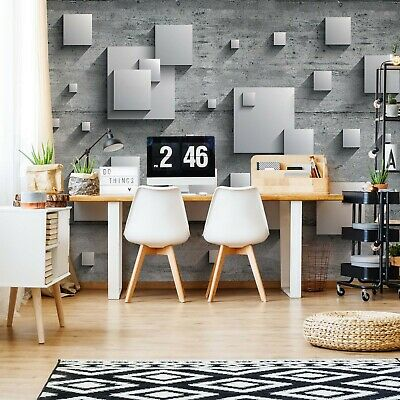 Concrete Squares 3D Photo Wallpaper Wall Mural Fleece Easy-Install Paper