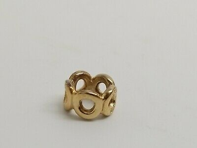 Pandora 14k yellow gold Circle spacer charm 5L